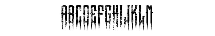 XSpiked-Regular Font UPPERCASE