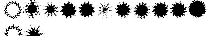 XStellaStern Five Font UPPERCASE
