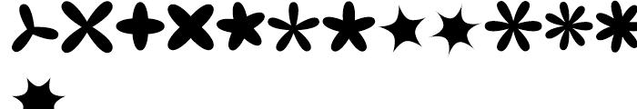 XStellaStern Three Font UPPERCASE