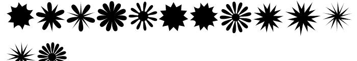 XStellaStern Three Font LOWERCASE