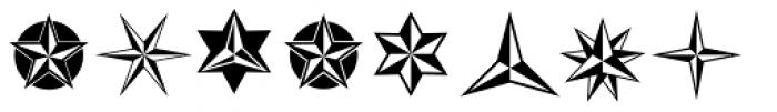 XStars And Stripes Two Font OTHER CHARS