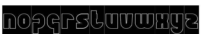 XTREME BIKE-Hollow Font LOWERCASE