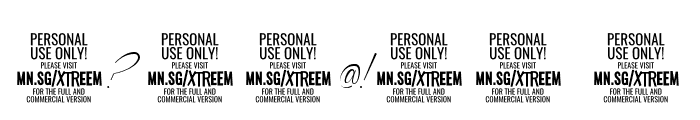 Xtreem Thin PERSONAL USE Font OTHER CHARS