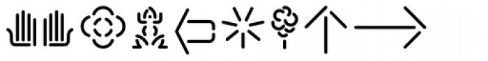 Xtencil Pro Icons Font LOWERCASE