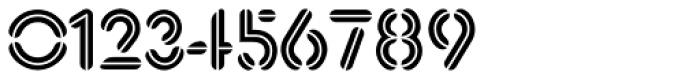 Xtencil Pro Inline Font OTHER CHARS