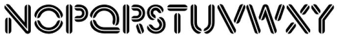 Xtencil Pro Inline Font UPPERCASE