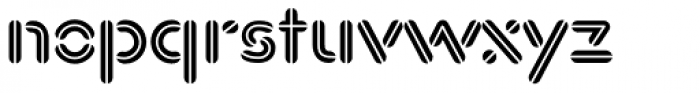 Xtencil Pro Inline Font LOWERCASE