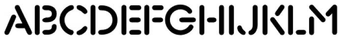 Xtencil Pro Medium Font UPPERCASE