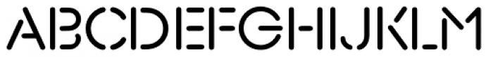 Xtencil Pro Regular Font UPPERCASE