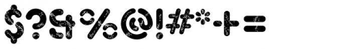 Xtencil Pro Rough Font OTHER CHARS