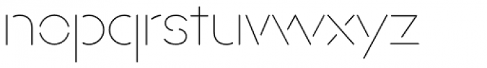 Xtencil Pro Thin Font LOWERCASE