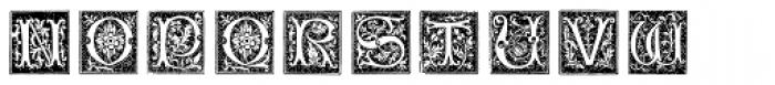 XVI Century Shaw Woodcuts Font UPPERCASE