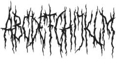 XXII Daemon otf (400) Font UPPERCASE