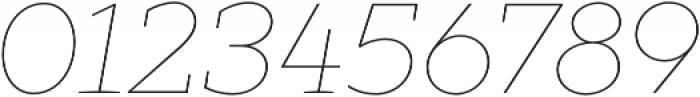XXII Geom Slab Thin It otf (100) Font OTHER CHARS