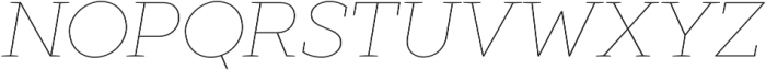 XXII Geom Slab Thin It otf (100) Font UPPERCASE