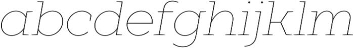 XXII Geom Slab Thin It otf (100) Font LOWERCASE