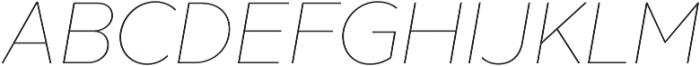 XXII Geom Thin It otf (100) Font UPPERCASE