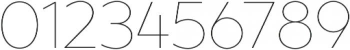 XXII Geom Thin otf (100) Font OTHER CHARS