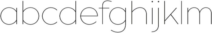 XXII Geom Thin otf (100) Font LOWERCASE