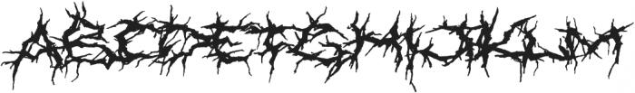XXII Nekro otf (400) Font UPPERCASE