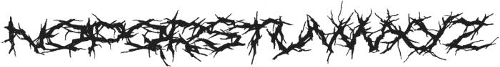 XXII Nekro otf (400) Font LOWERCASE