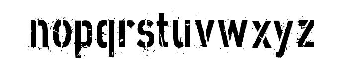 XXII DIRTY-ARMY Font LOWERCASE