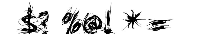 XXII SCRATCH Font OTHER CHARS