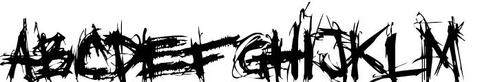 XXII SCRATCH Font UPPERCASE