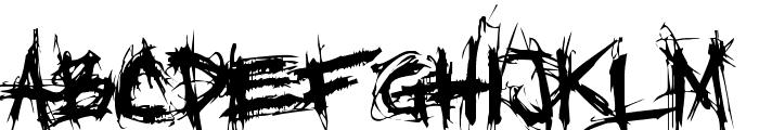 XXII SCRATCH Font LOWERCASE