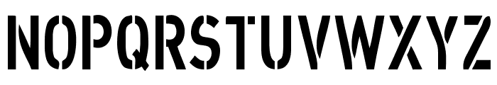 XXII STRAIGHT-ARMY Font UPPERCASE