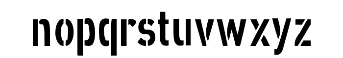XXII STRAIGHT-ARMY Font LOWERCASE