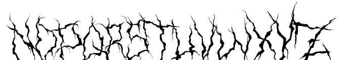 XXII Ultimate-Black-Metal Fallen-Angel Font UPPERCASE