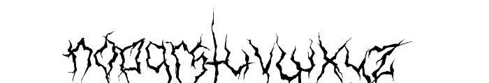 XXII Ultimate-Black-Metal Fallen-Angel Font LOWERCASE