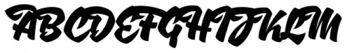 XXII AwesomeScript Font UPPERCASE