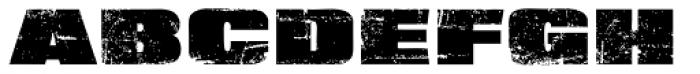 XXII BLACK-BLOCK Eroded Font UPPERCASE