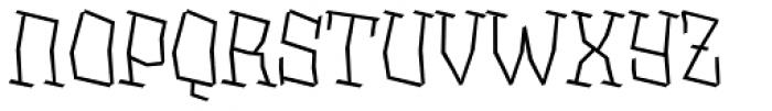 XXII BLASPHEMA Light Font UPPERCASE