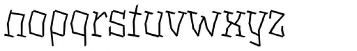 XXII BLASPHEMA Light Font LOWERCASE