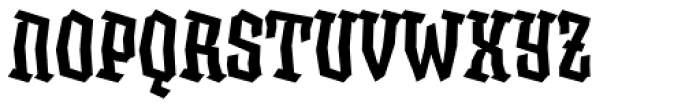XXII BLASPHEMA Medium Condensed Font UPPERCASE
