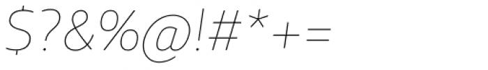XXII Centar ExtraThin Italic Font OTHER CHARS