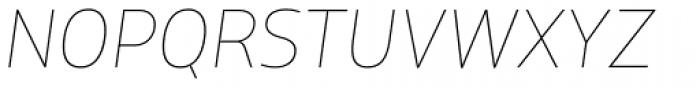XXII Centar ExtraThin Italic Font UPPERCASE