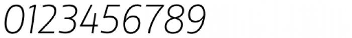 XXII Centar Thin Italic Font OTHER CHARS