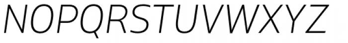XXII Centar Thin Italic Font UPPERCASE