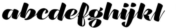 XXII CoolScript Bold Font LOWERCASE