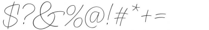 XXII CoolScript Extra Thin Font OTHER CHARS