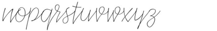 XXII CoolScript Extra Thin Font LOWERCASE