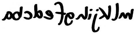 XXII DEVILS-RIGHT-HAND DloB Font LOWERCASE