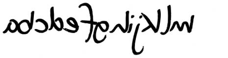 XXII DEVILS-RIGHT-HAND LamroN Font LOWERCASE