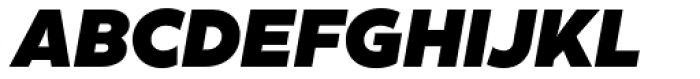 XXII Geom Black Italic Font UPPERCASE