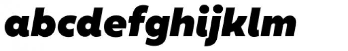 XXII Geom Black Italic Font LOWERCASE