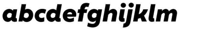 XXII Geom Heavy Italic Font LOWERCASE